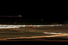 Campo de las luces abstractas de la noche foto de archivo