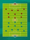 Campo de las táctica de las personas de fútbol Imagen de archivo
