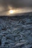 Campo de lava Fotografia de Stock