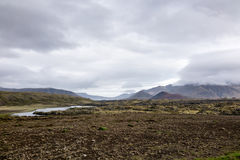 Campo de lava de Berserkjahraun em Islândia Fotografia de Stock Royalty Free