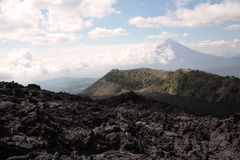Campo de lava de Pacaya foto de archivo