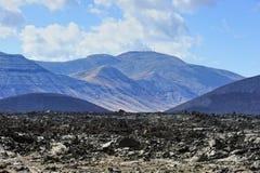 Deserto vulcânico no parque nacional de Timanfaya, ilha de Lanzarote, Ca Imagens de Stock