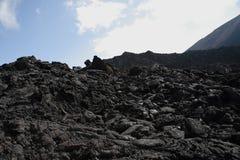 Campo de lava preto Fotografia de Stock Royalty Free