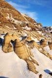 Campo de los badlands del invierno Imagen de archivo libre de regalías