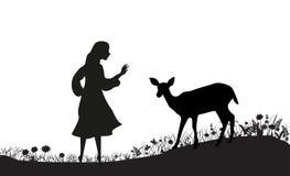 Campo de los ciervos Fotografía de archivo libre de regalías