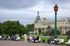 Campo de Marte en St Petersburg céntrico Imagen de archivo libre de regalías