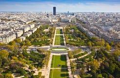 Campo de Marte. Visión superior. París. Francia Foto de archivo