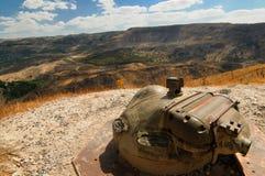 Campo de mina, Altos del Golán, Israel Foto de archivo