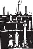 Campo de misiles Imágenes de archivo libres de regalías