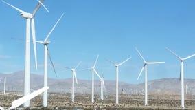 Campo de molinoes de viento Foto de archivo libre de regalías