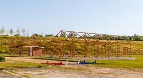 Campo de Moton das estruturas do esqueleto do cadete do exército Foto de Stock
