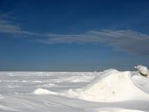 Campo de neve Fotografia de Stock