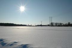 Campo de neve foto de stock