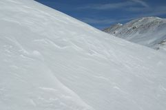 Campo de neve de Colorado Foto de Stock Royalty Free