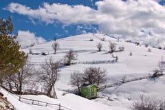 Campo de nieve Fotos de archivo