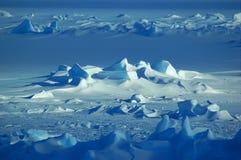 Campo de nieve antártico Fotografía de archivo