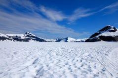 Campo de nieve del glaciar Fotos de archivo
