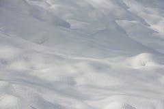 Campo de nieve del invierno Fotografía de archivo