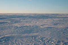 Campo de nieve ruso Foto de archivo libre de regalías