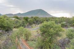 Campo de Nqweba según lo visto de la plataforma de la visión del juego Fotografía de archivo libre de regalías