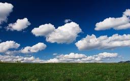 Campo de nubes Fotos de archivo libres de regalías