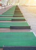 Campo de prácticas vacío del golf Fotografía de archivo