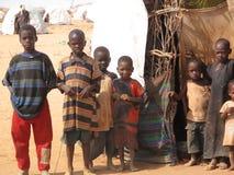 Campo de refugiado de Somalia Imagenes de archivo