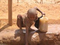 Campo de refugiado del hambre de Somalia Fotos de archivo libres de regalías