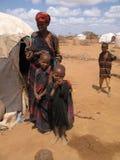 Campo de refugiado del hambre de Somalia Imagen de archivo libre de regalías