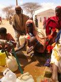 Campo de refugiado del hambre de Somalia Imagenes de archivo