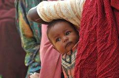 Campo de refugiados da fome Foto de Stock Royalty Free