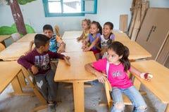 Campo de refugiados de Lagadikia Fotos de Stock Royalty Free