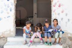 Campo de refugiados de Lagadikia, Grécia Fotos de Stock