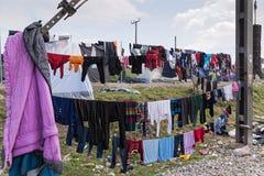 Campo de refugiados em Grécia Fotos de Stock Royalty Free