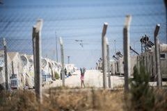 Campo de refugiados para povos sírios em Turquia 7 de setembro de 2017 Suruc, Turquia Fotos de Stock Royalty Free