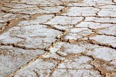 Campo de sal no mar inoperante, Israel Fotos de Stock