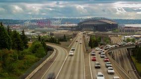 Campo de Seattle Safeco con tráfico de alto impacto metrajes