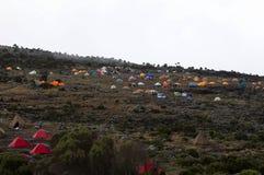 Campo de Shira en la ruta de Machame. Fotos de archivo libres de regalías