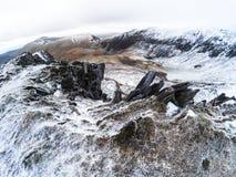 Campo de Snowdonia em Inglaterra fotos de stock