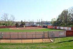 Campo de softball pedregoso del arroyo Imagen de archivo libre de regalías