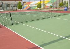 Campo de tênis Fotos de Stock