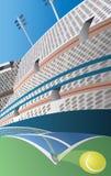 Campo de tênis Imagem de Stock Royalty Free