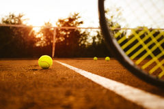 Campo de tênis Imagens de Stock Royalty Free