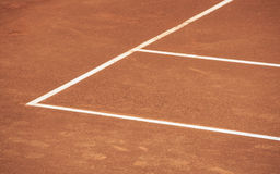 Campo de tênis fotografia de stock royalty free