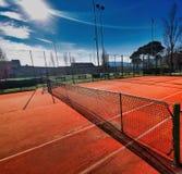 campo de tênis artificial da argila imagem de stock royalty free