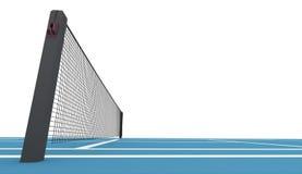 Campo de tênis azul rendido isolado ilustração stock