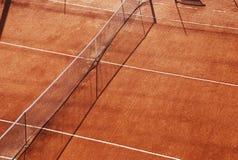 Campo de tênis da argila Imagens de Stock