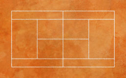Campo de tênis da argila