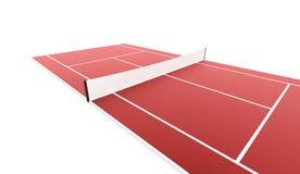 Campo de tênis rendido isolado no fundo branco ilustração do vetor