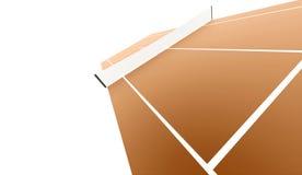 Campo de tênis rendido isolado no fundo branco ilustração royalty free